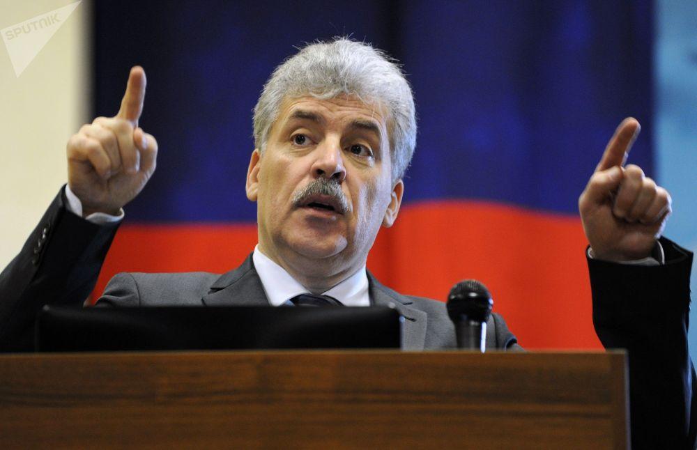 2017年12月,俄羅斯聯邦共產黨提名格魯季寧參加總統選舉。