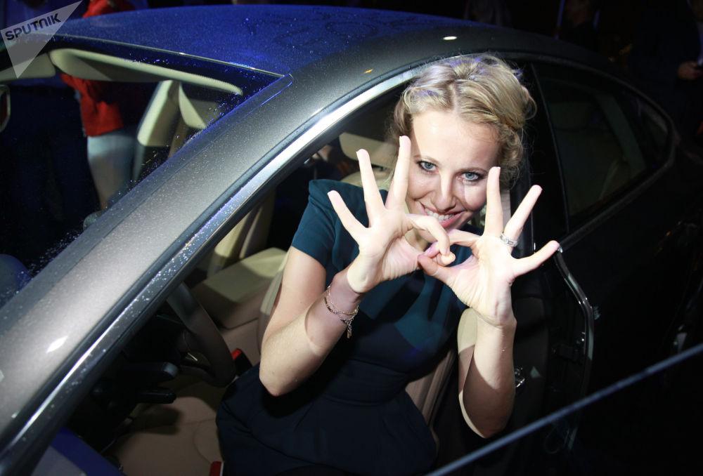 俄公民倡議黨候選人電視主持人克謝尼婭·索布恰克