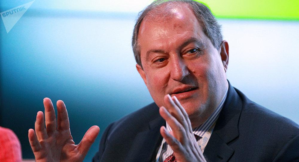执政党候选人萨尔基相当选亚美尼亚总统