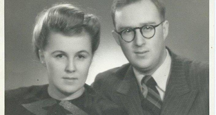 谢尔盖·齐赫文斯基与妻子薇拉,1949年