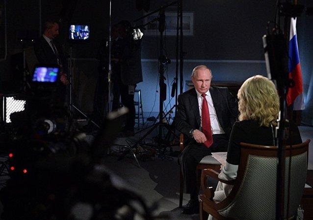 普京在接受美国电视台NBC采访时