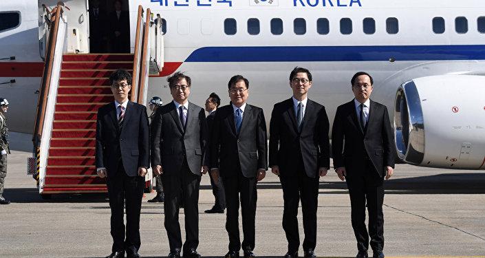 韩总统特使启程赴朝 或与金正恩会面