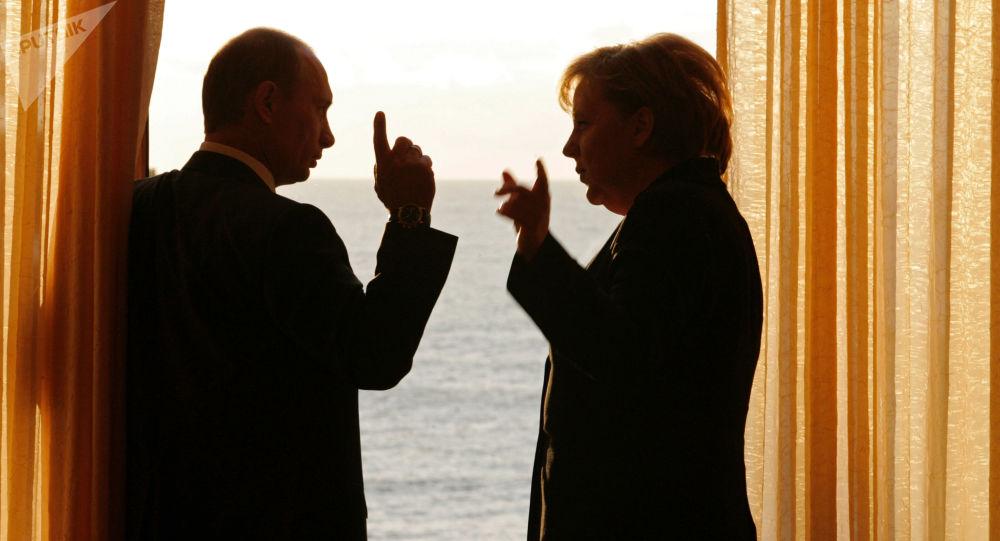 普京和默克尔将讨论乌叙局势和美国制裁