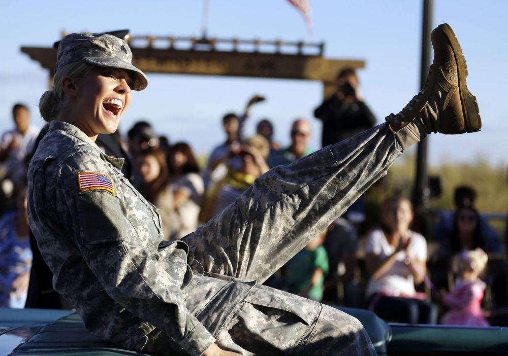 美国国民警卫队女兵
