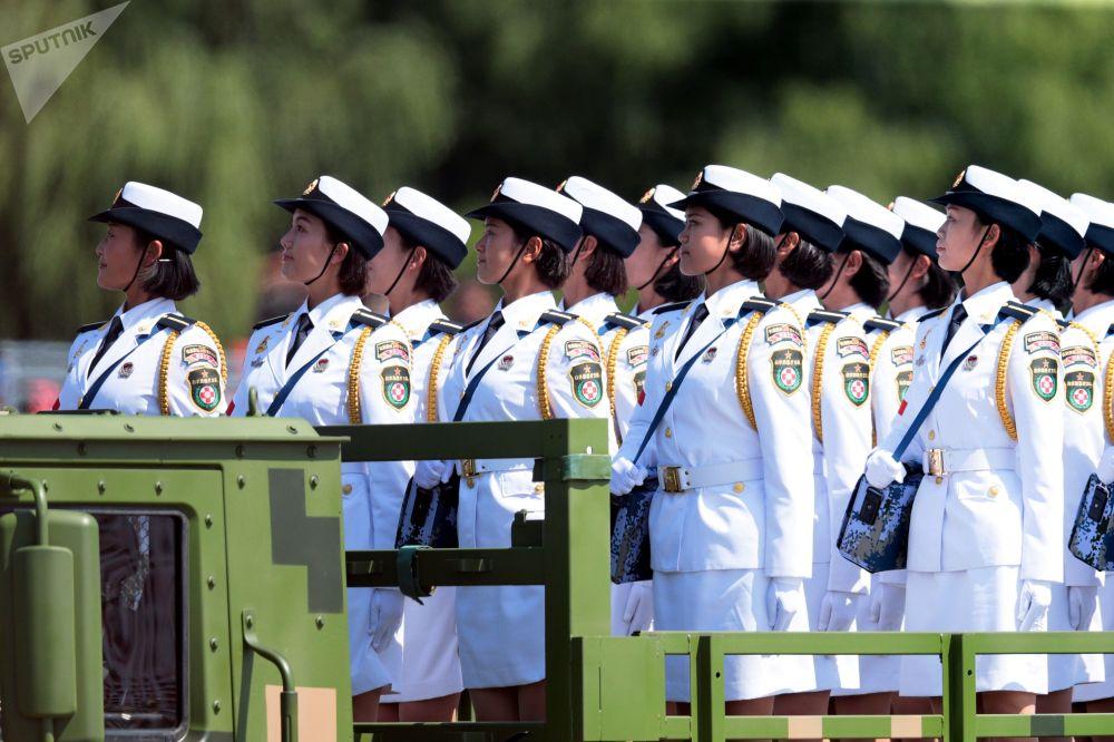 中国人民解放军抗日战争暨世界反法西斯战争胜利70周年阅兵式上的军人