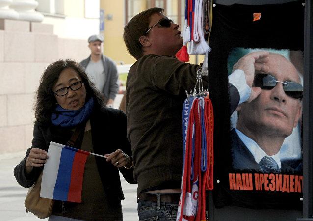 近四年中国公民赴俄免签客流量每年至少增长