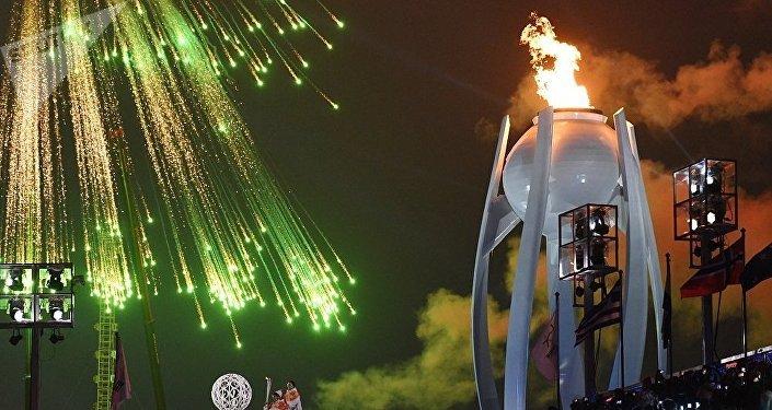 在平昌殘奧會開幕式上,在奧林匹克體育場上空燃放了煙花