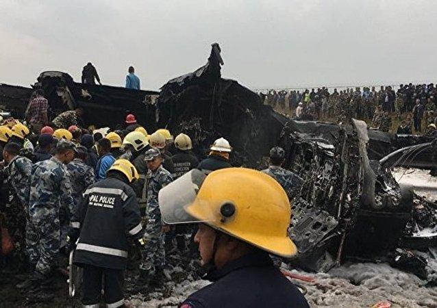 尼泊尔坠机事故导致至少40死亡