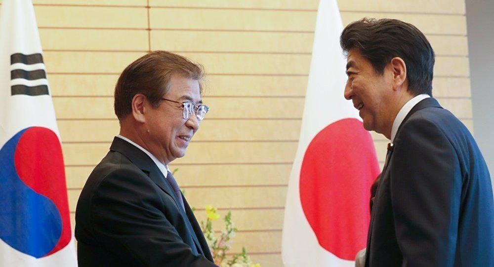 日本首相会见韩国总统特使