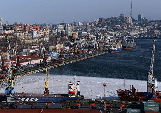 Бухта золотого рога во Владивостоке