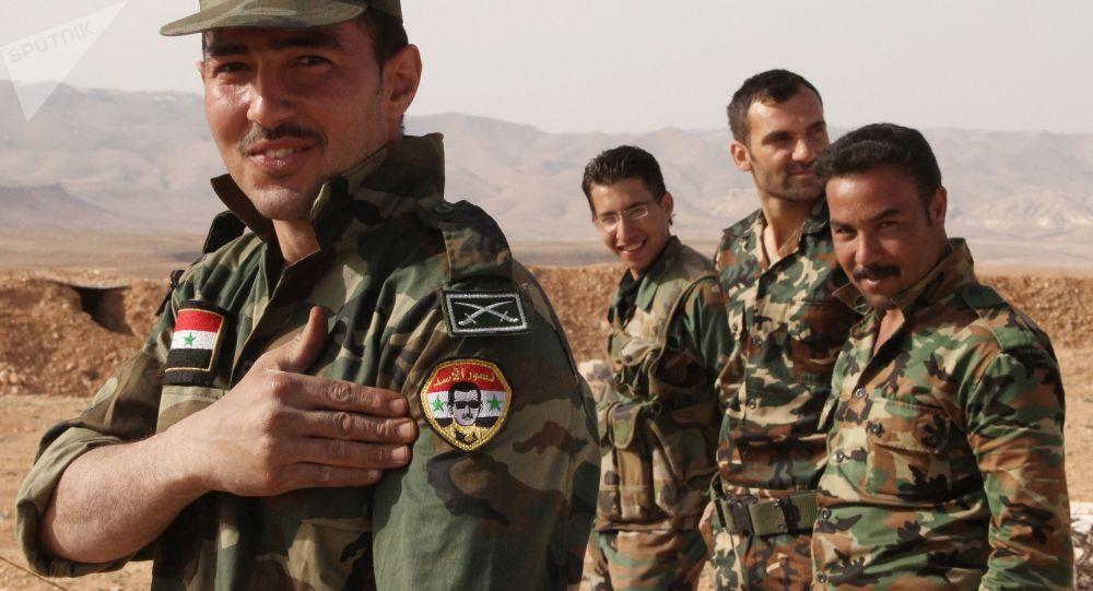 叙利亚总统阿萨德视察东古塔区前线