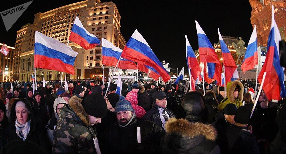 近90%的俄羅斯人期待選舉後俄羅斯有積極的變化