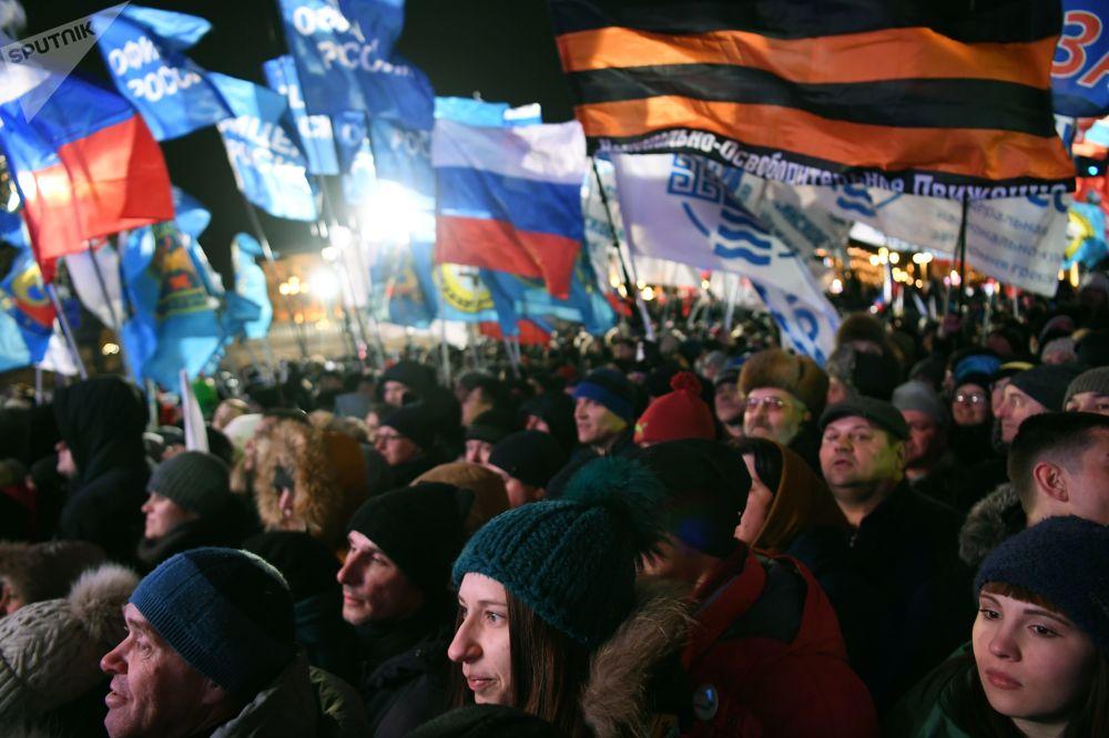 克里米亞入俄四週年音樂會集會在莫斯科舉行