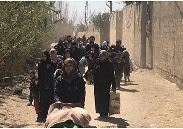 一天內315人沿第三條人道主義走廊撤離敘東古塔