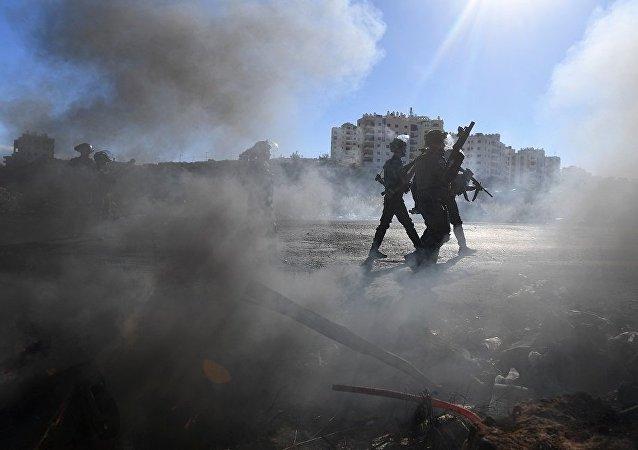 以色列遭来自加沙地带45枚火箭弹袭击
