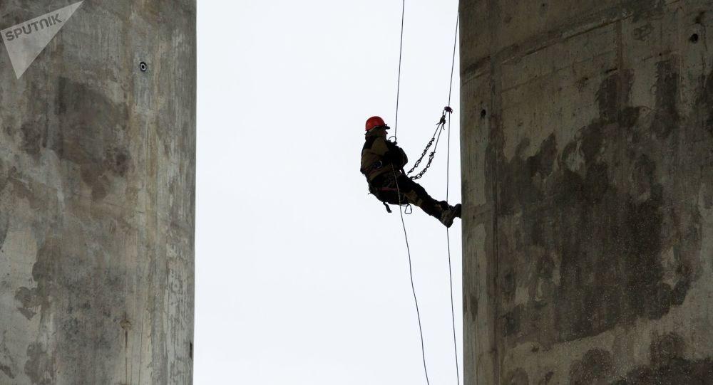 刻赤海峡大桥铁路部分桥墩建设工作几近完工