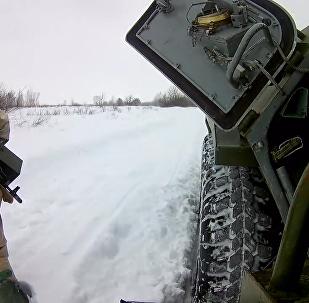 俄罗斯三防兵在库尔斯克州举行演习