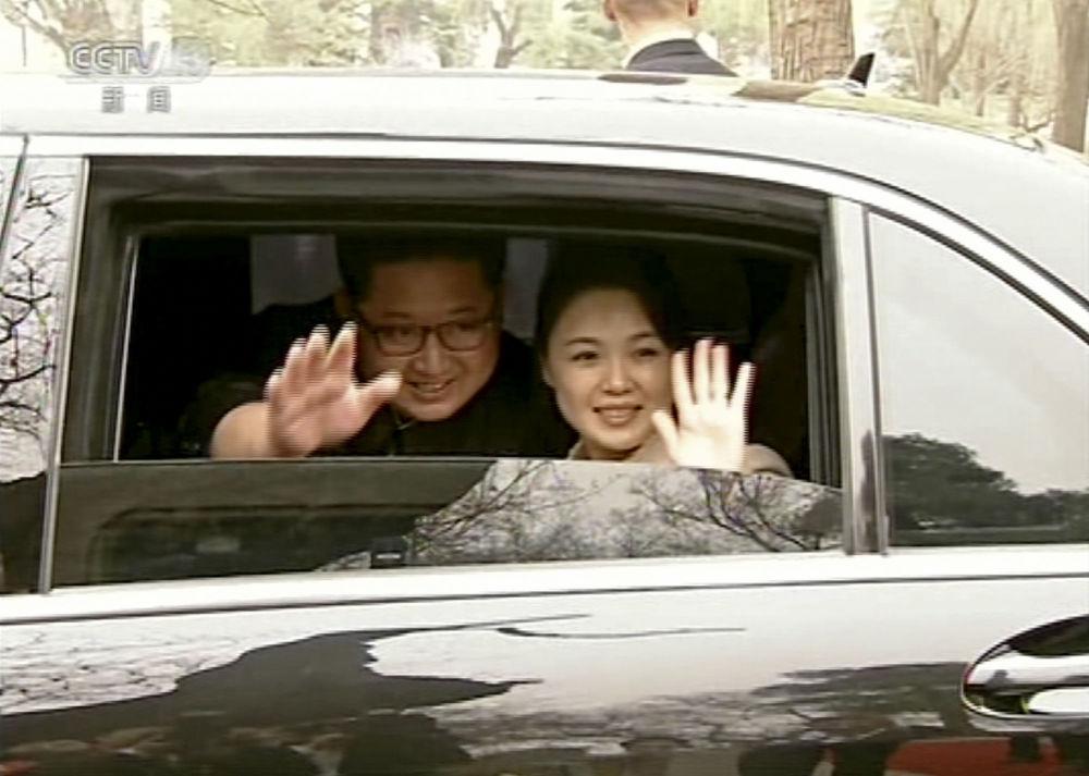 朝鲜领导人金正恩携夫人访问北京。
