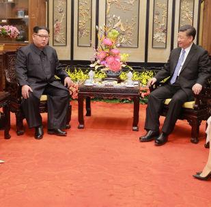 中国媒体称习近平同金正恩在大连会晤