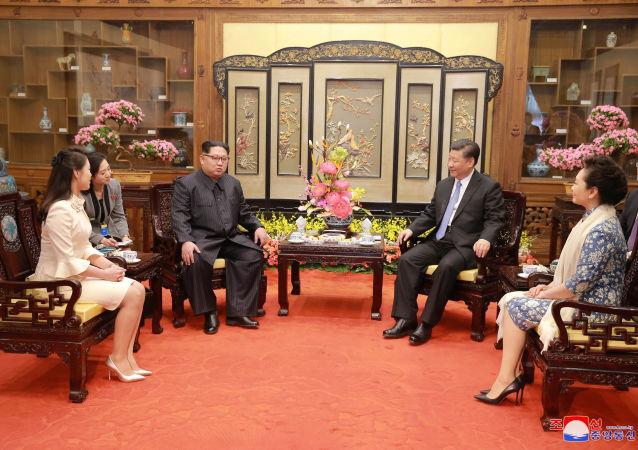 中國媒體稱習近平同金正恩在大連會晤