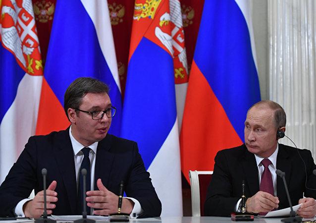 克宫:普京将授予塞尔维亚总统亚历山大·涅夫斯基勋章