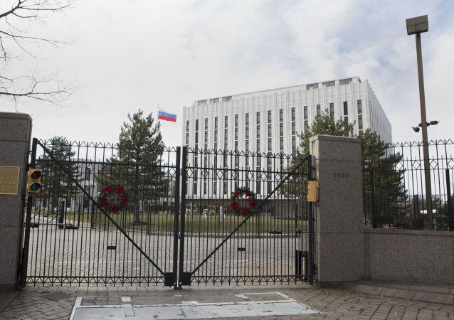 俄驻美大使馆呼吁华盛顿停止压制俄罗斯媒体