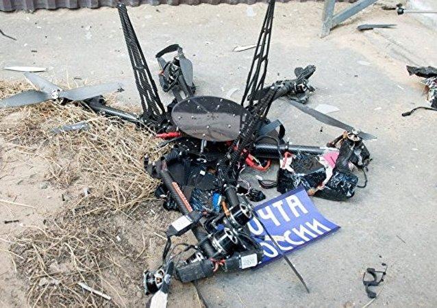 俄罗斯邮政的首架无人机发射后不久掉落