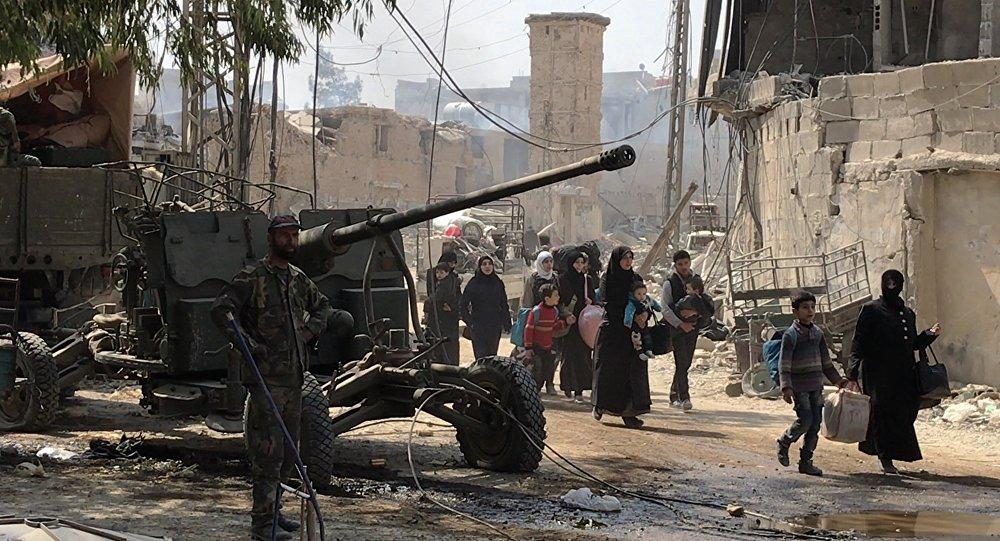 俄国防部:恐怖分子再无法从东古塔向大马士革进行炮击
