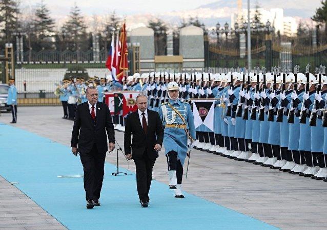 普京已抵达安卡拉开始为期2日的访问行程