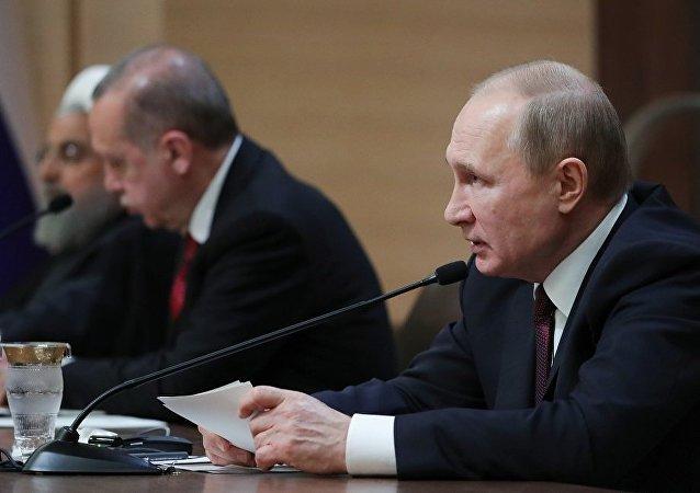 普京:俄土伊商定在叙利亚问题上扩大协作