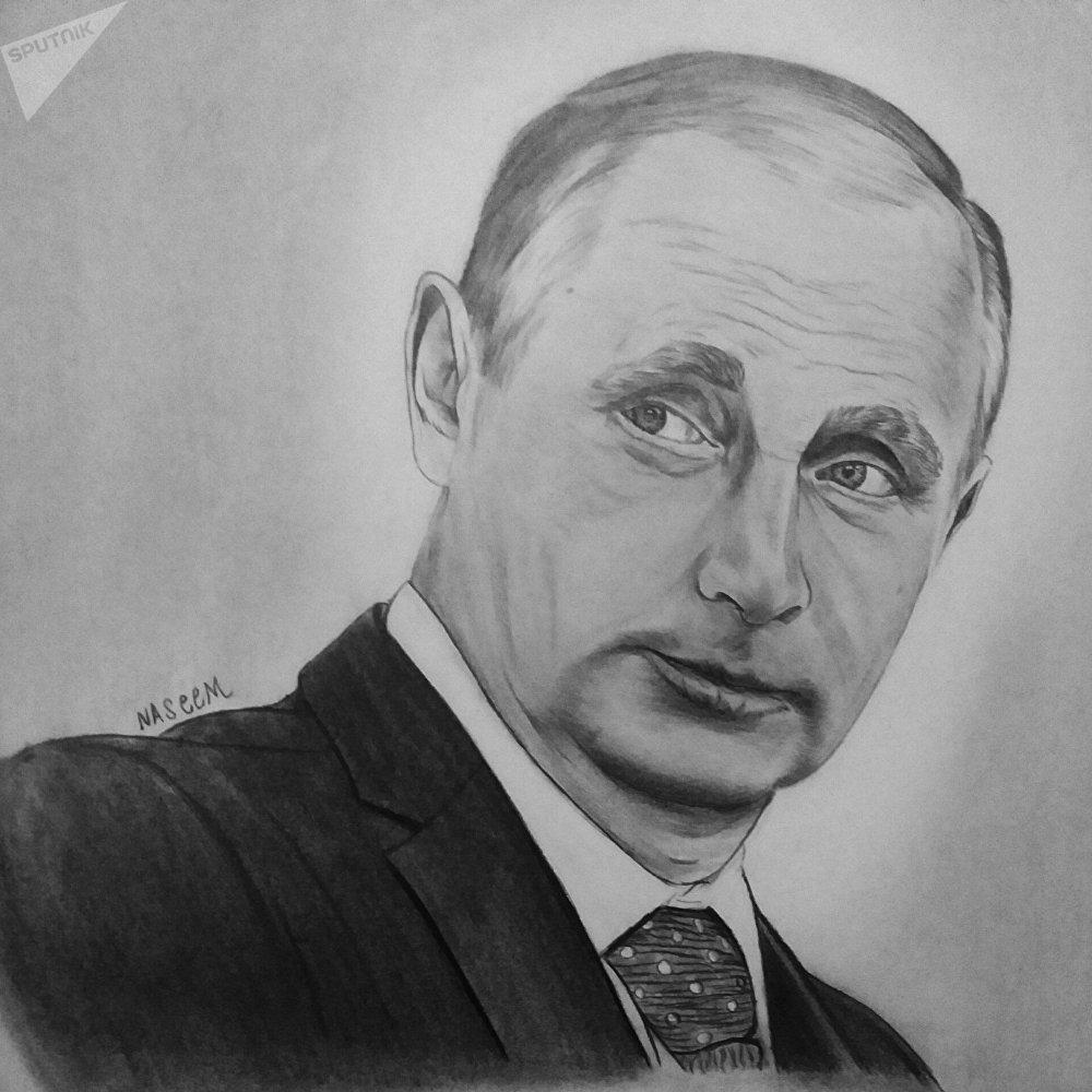 在和俄羅斯衛星通訊社記者相遇後,他畫了一副俄羅斯總統普京的肖像畫,並通過郵局寄了出去,以此表達他對俄羅斯對敘立場的感激之情。