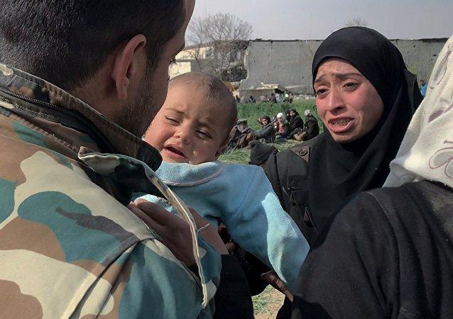 俄驻叙调解中心坚决否认有关叙政府军似乎在杜马投射氯弹的消息
