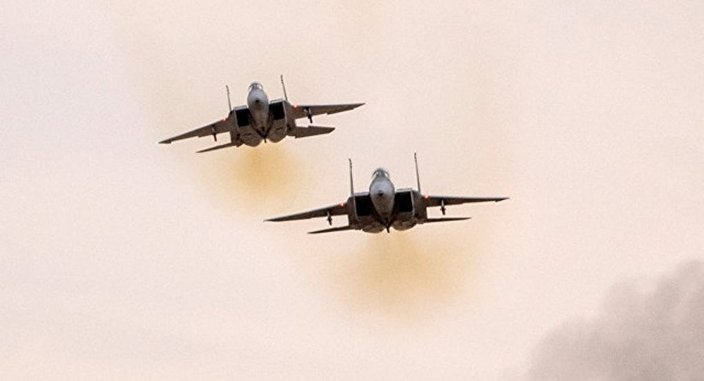 以色列空军两架F-15战机空袭叙空军基地