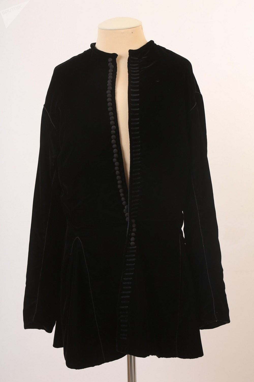 彼得一世船长服复制品,原件收藏于彼得夏宫(俄罗斯圣彼得堡,2004,天鹅绒、丝绸)