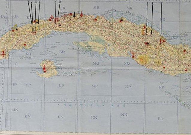 美国拍卖行将以11.3万美元价格拍出古巴境内苏联军事设施地图