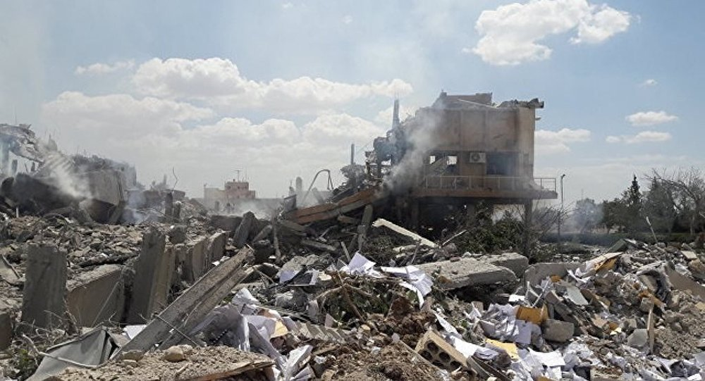 极端分子将一装满弹药的军械库上缴给叙政府军