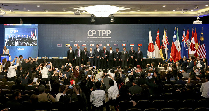 The signing ceremony of the Comprehensive and Progressive Agreement for Trans-Pacific Partnership