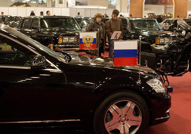 网上爆出普京的豪华座驾售出的消息