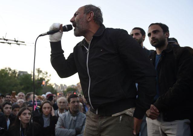 亞美尼亞反對派議員尼科爾·帕希尼揚