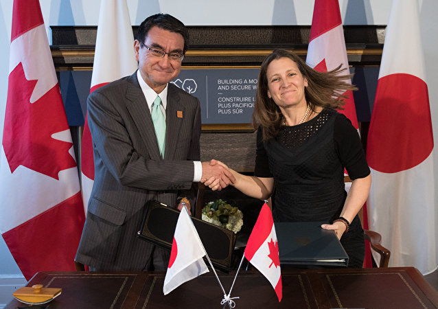 日本和加拿大签署提供军事技术设备协定