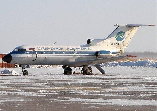 """""""哈巴罗夫斯克航空""""的雅克-40"""