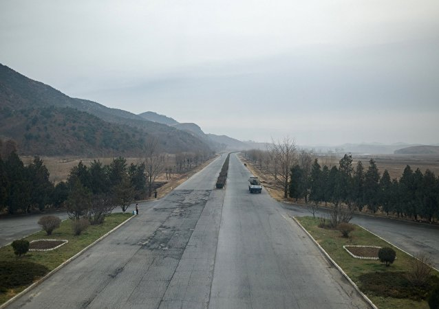 A section of the Pyongyang to Kaesong highway in North Korea, where a road accident has caused heavy casualties among Chinese tourists