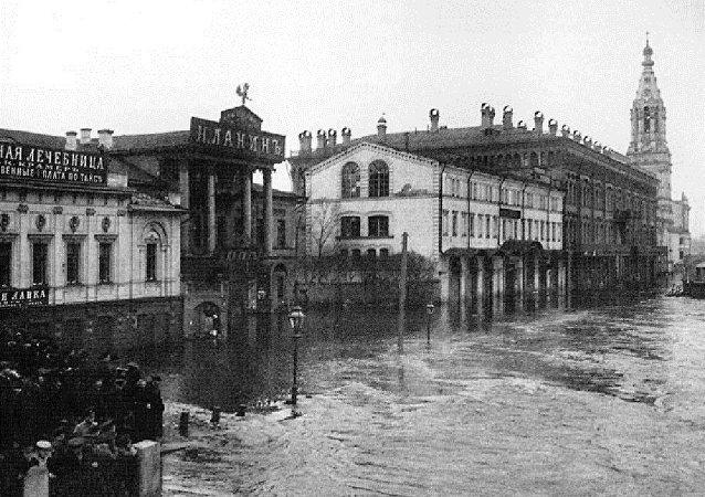 110年前莫斯科发生了历史上最大的一次水灾。