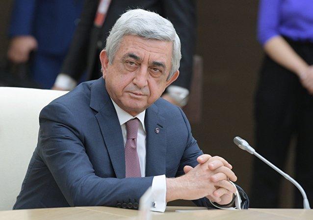 亚美尼亚总理萨尔基相宣布辞职