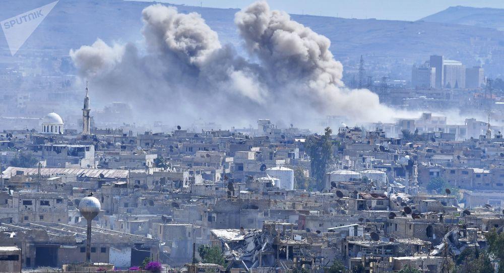 敘大馬士革中心遭迫擊炮彈襲擊致1死12傷