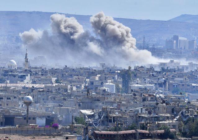 叙大马士革中心遭迫击炮弹袭击致1死12伤
