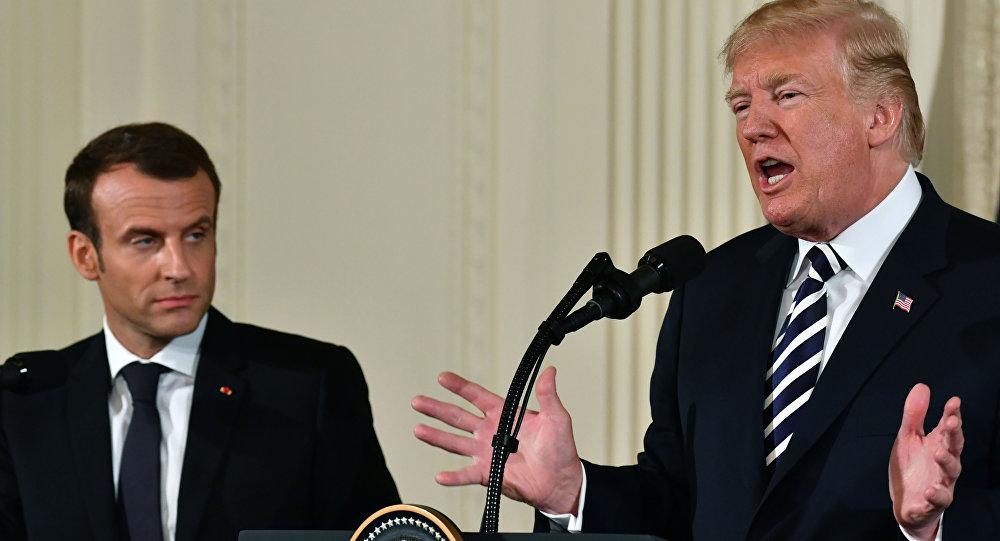 法国总统马克龙和美国总统特朗普(资料图片)
