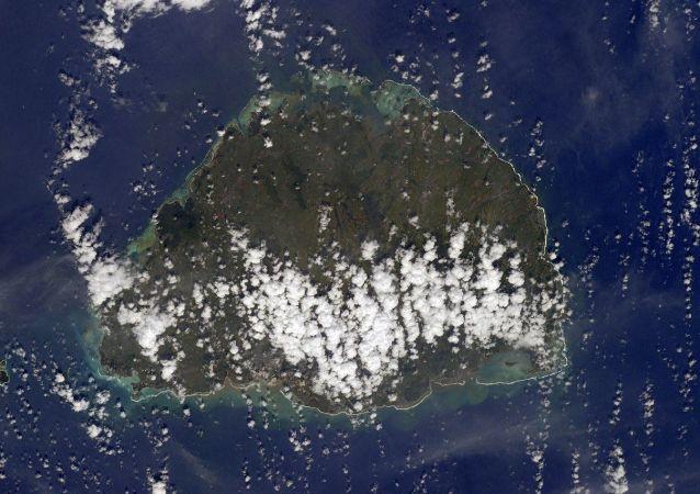 毛里求斯岛的航天照片