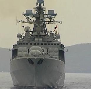 太平洋艦隊在日本海進行聯合砲擊演習