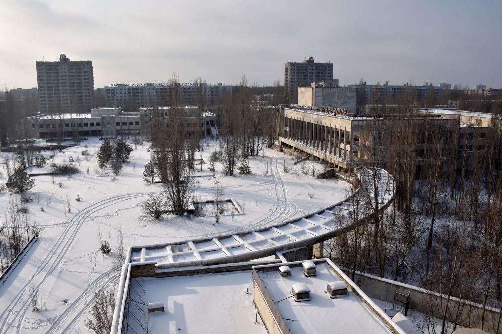 """冬天中的""""鬼城""""——普里皮亚季镇"""
